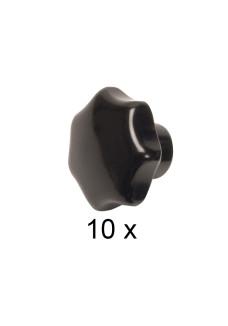 Bakelit fingermøtrik M10. Pakke med 10 stk.