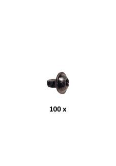 M5x8 skrue, sort gevindform. Pakke med 100 stk.