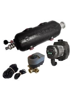 """3/4"""" Vejrkompenseringskit med flowboks, pumpe og 3-vejs 3/4"""" ventil"""