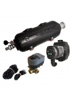 """1"""" Vejrkompenseringskit med flowboks, pumpe og 3-vejs 1"""" ventil"""