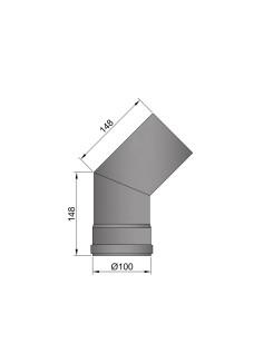 Flue pipe 100mm bend 45 degrees