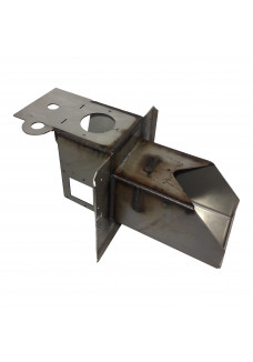 Burner head 16kW with two-way fan assembly