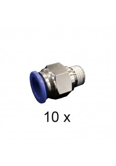 "Converter 1/4"", male. Push-in 12mm, female. Package of 10 pcs"